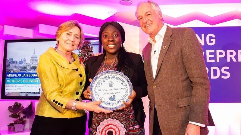 FID - L-R: Dame Polly Courtice, Adepeju Jaiyeoba, Unilever CEO Paul Polman