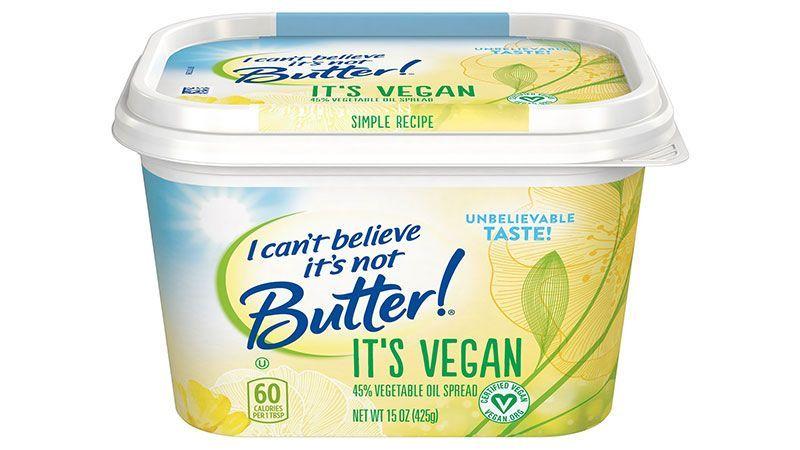 I Can't Believe It's Not Butter - It's Vegan packaging
