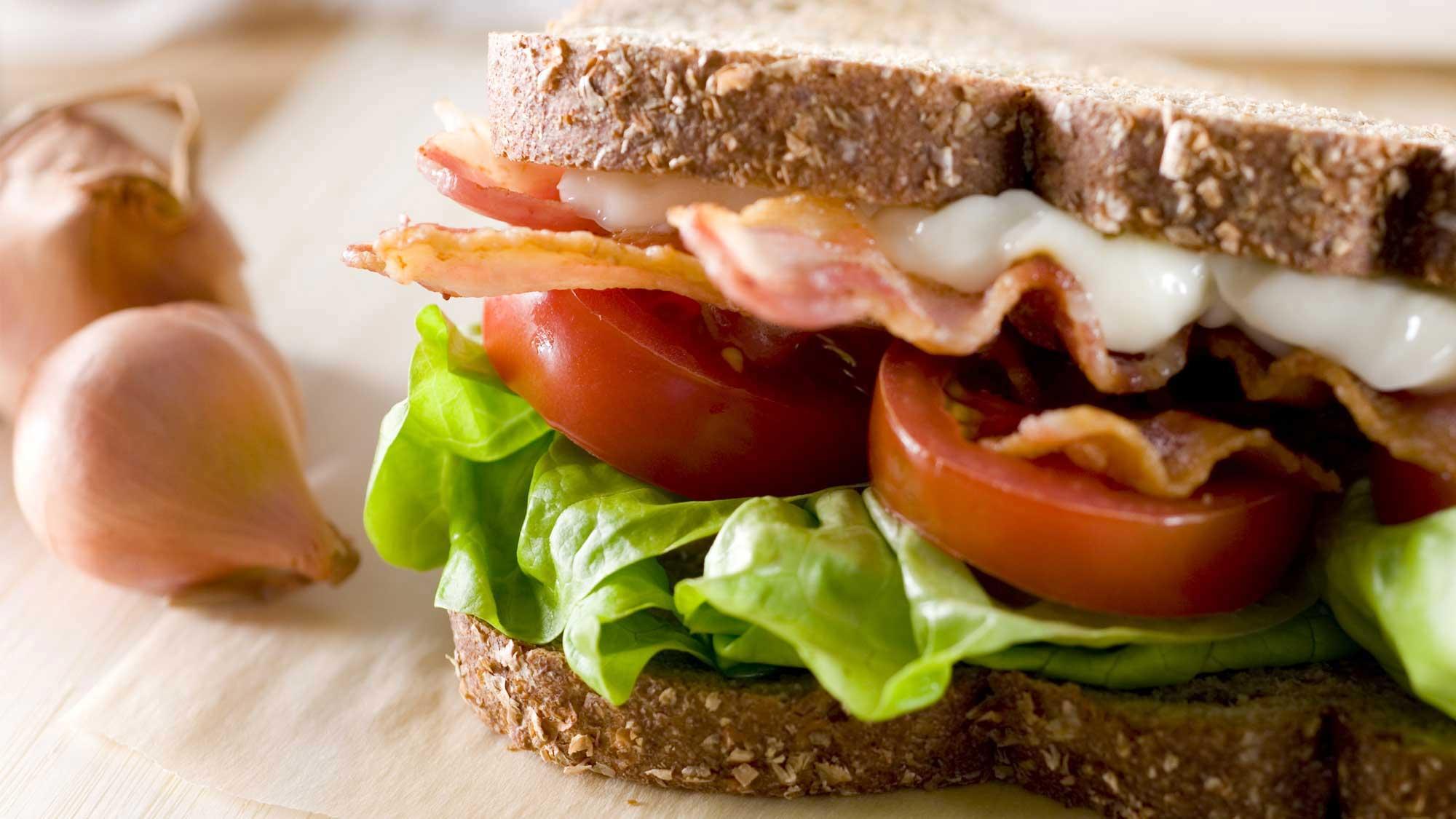 Sandwich with mayonnaise