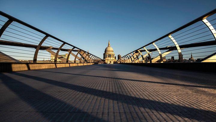 A view of St Paul's from millennium bridge