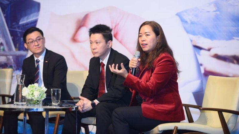 plastic waste management conference woman speaker
