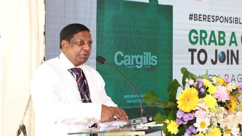 Asoka Pieris, Managing Director – Cargills Food Company, delivering his speech