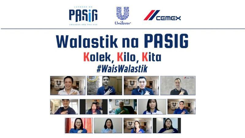 Walastik na Pasig virtual ceremony with representatives