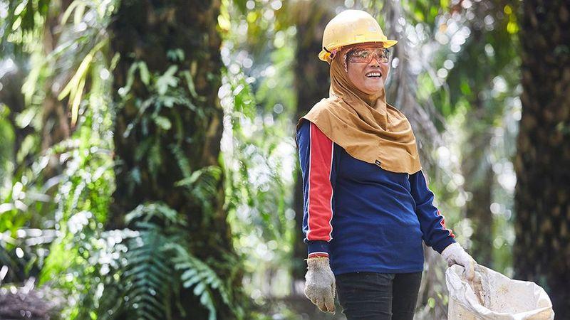 Palm oil woman farmers