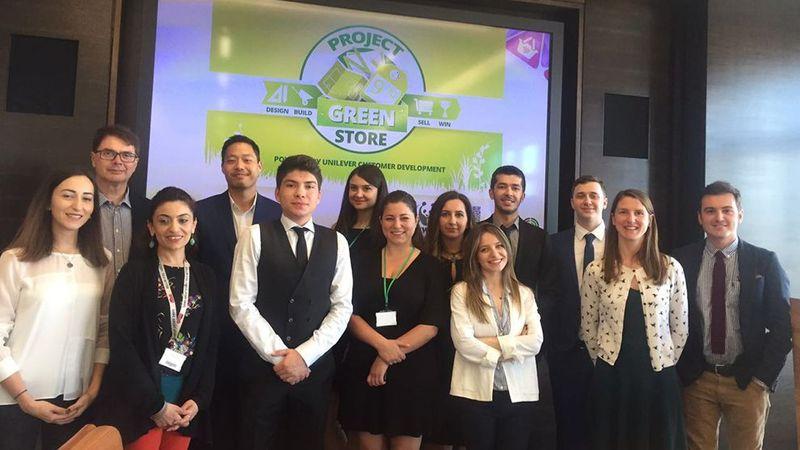 The winning team from Istanbul's Ozyegin University