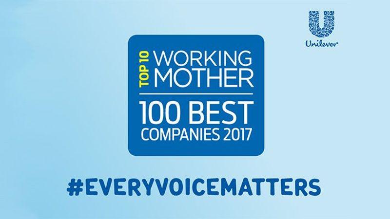 Working Mother 2017 - Top 10