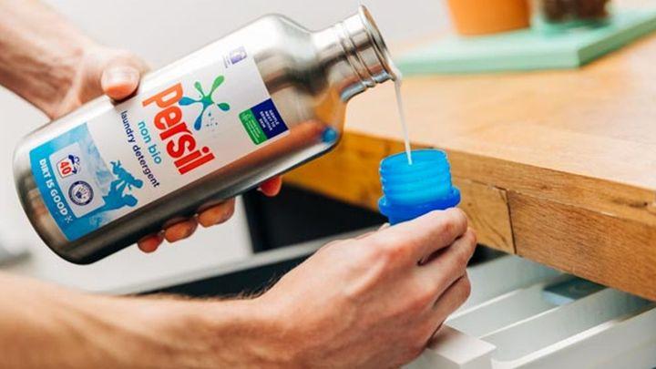 Persil's new reusable laundry detergent bottle