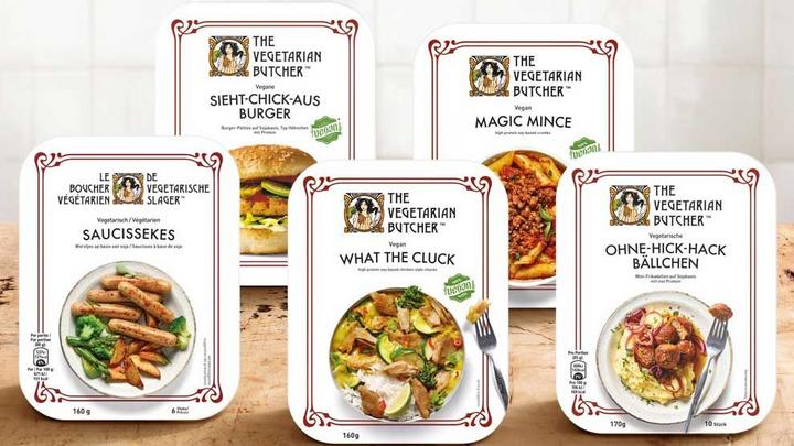 Vegetarische vleesballetjes op een bord