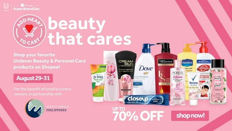 Unilever products on 70% off.