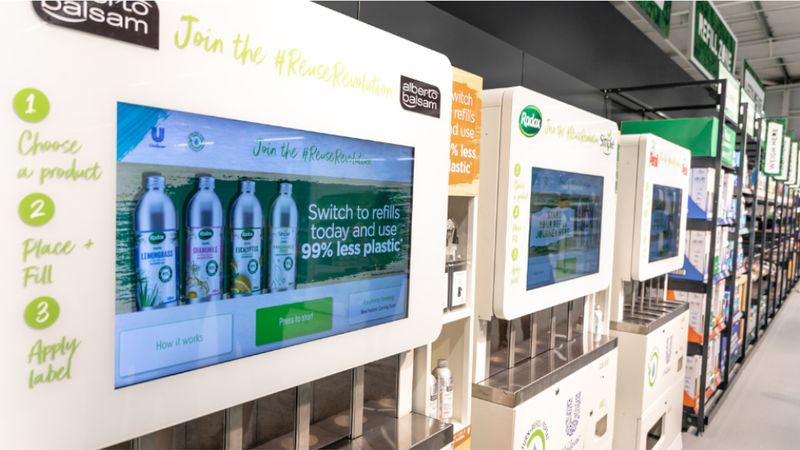 Unilever products' refill station