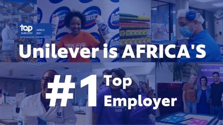 Unilever is Africa's #1 Top Employer 2021