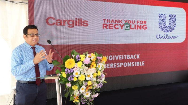Gerard Irudayaraj, Supply Chain Director – Unilever Sri Lanka, addressing the gathering