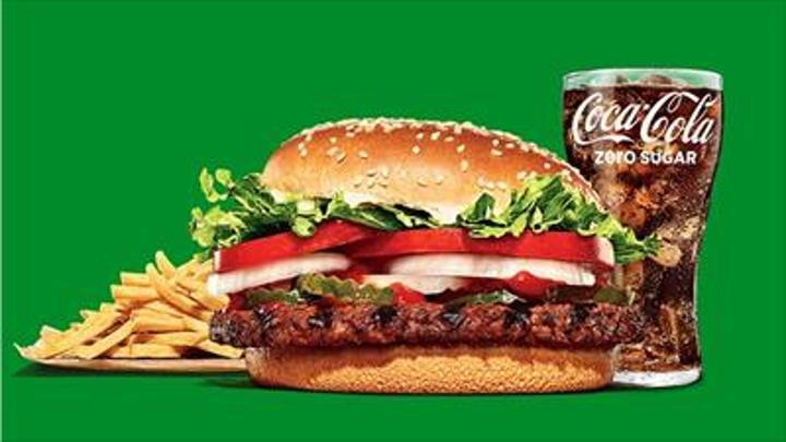 The Plant-based Whopper burger