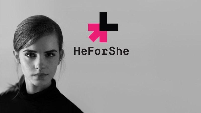 Emma Watson posing for HeFor She Campaign
