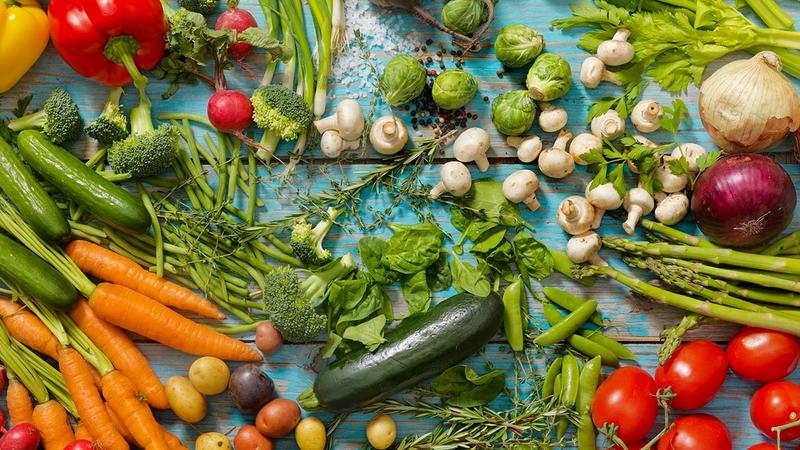 Selection of vegetables
