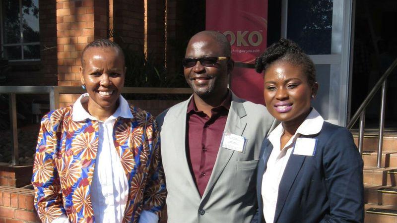 Ntokozo Sithole, Mayor Chris Ndlela and Sibonie Dube,Corporate Affairs Director at Unilever ZA.
