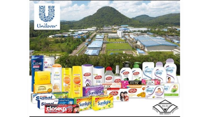 Products manufactured at Horana, on the backdrop of the Horana Factory