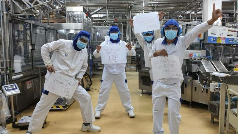 Unilever factory employees