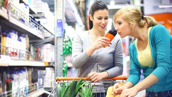 Women shopping in a drugstore