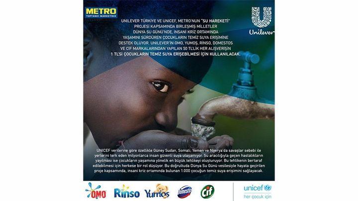 Unilever - Metro market su erişimine destek broşürü