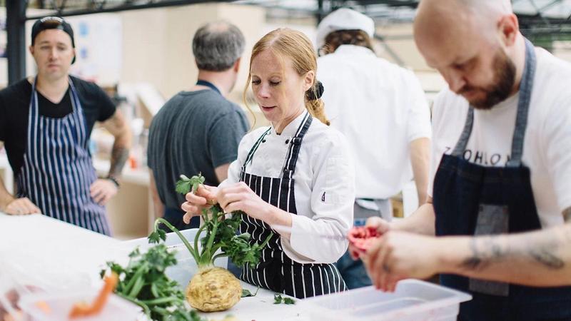 Chef's preparing food