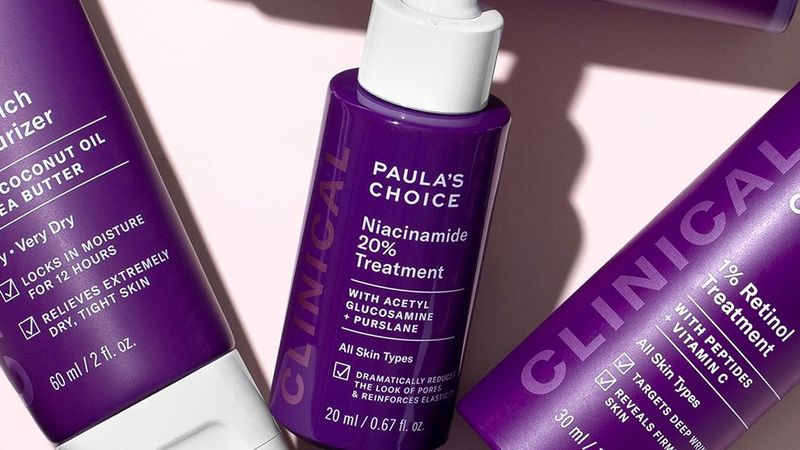 Paula's choice products display