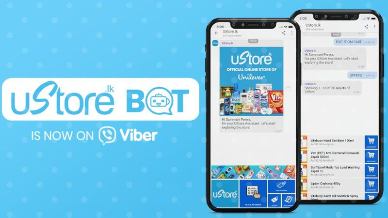 Ustore Bot is now on Viber image
