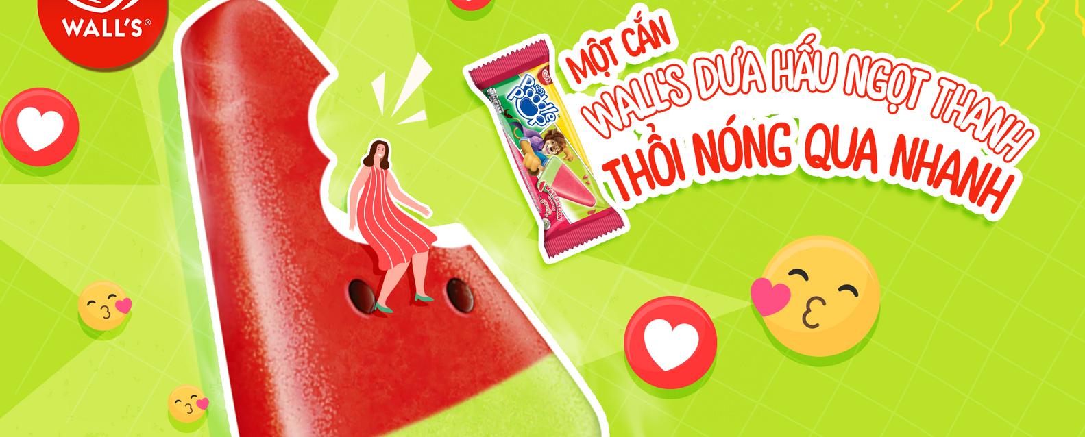 Hình ảnh kem Wall's dưa hấu