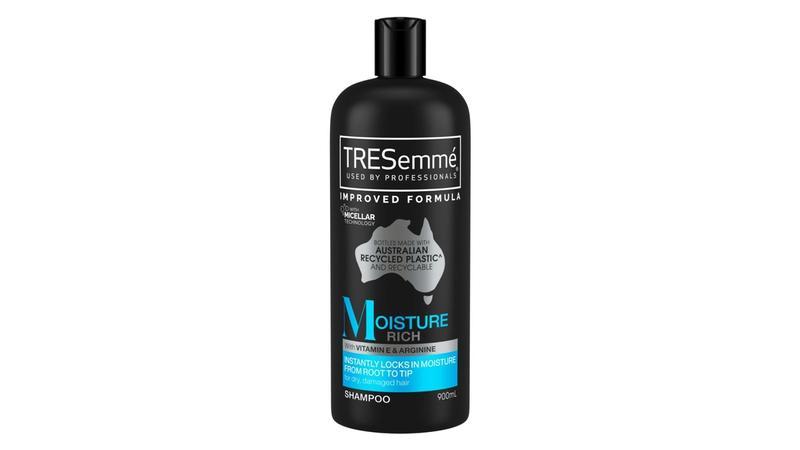 Bottle of TRESemmé shampoo