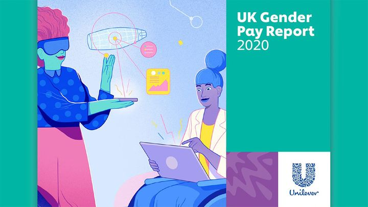 The cover of Unilever UK's Gender Pay Gap Report 2020
