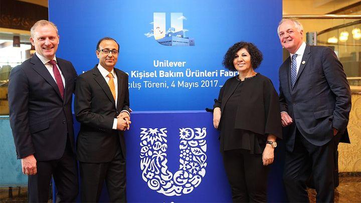 Unilever kişisel bakım ürünleri fabrikası açılışı
