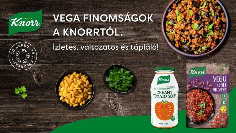 Próbáld ki te is a Knorr legújabb vega finomságait!