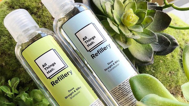 """""""all things hair"""" refill bottles"""