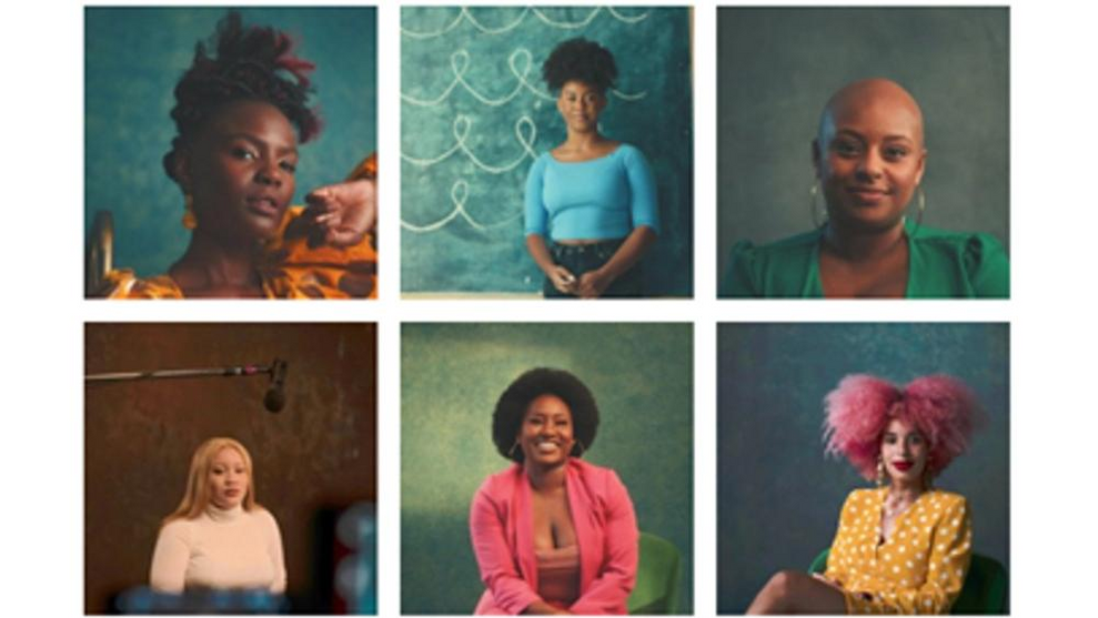 A collage of images representing different hair styles and hair identities.