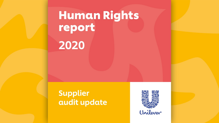 Cover of Unilever's 2020 Supplier Audit Update report
