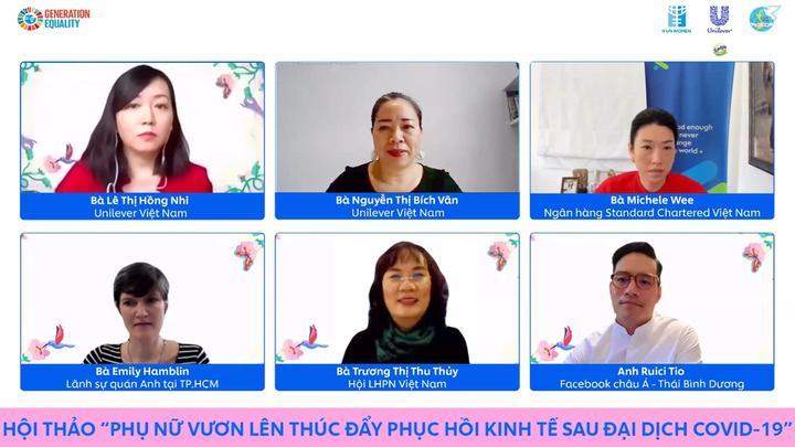 Hội thảo trực tuyến về Phụ nữ của Unilever