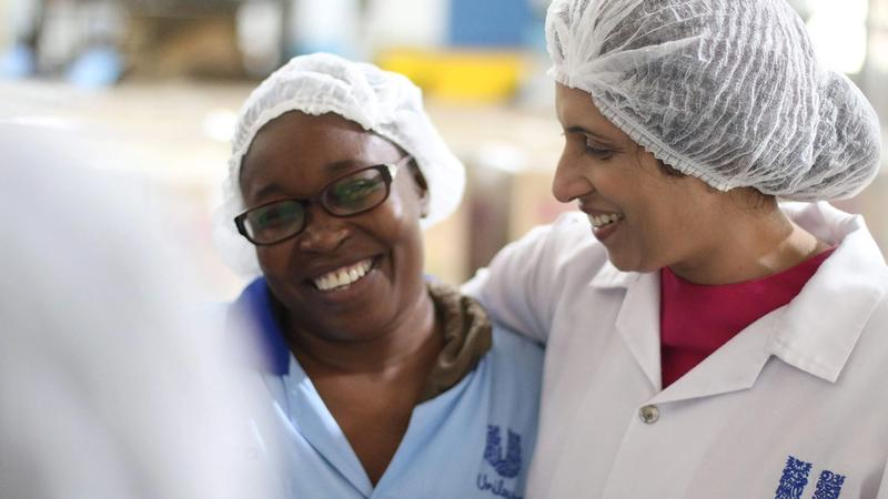 Female employees in a Unilever factory