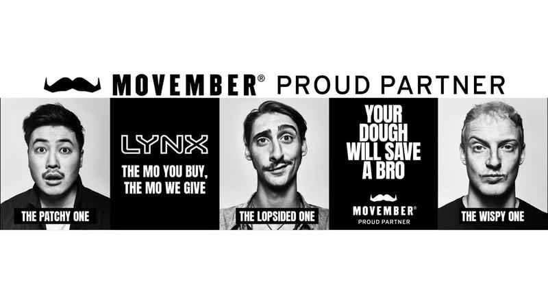 Three men with different moustaches for Movember