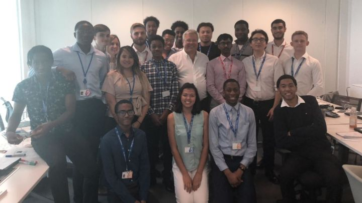 picture of summer placement students