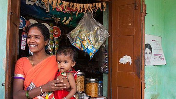 Shakthi woman with child
