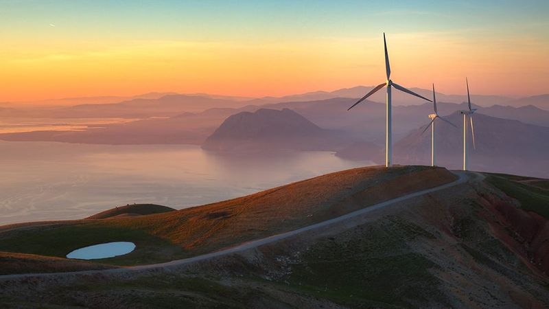 Feature image - Turbine image for climate article