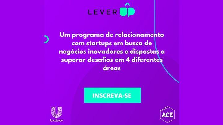frase Um programa de relacionamento com startups em busca de negócio sinovadores e dispostas a superar desafios. Participe!