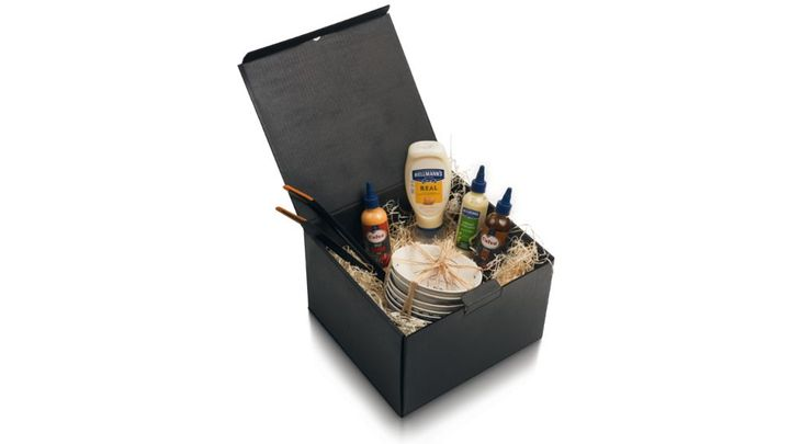 Open Unilever & Fiskars Premium BBQ Set containing sauces and plates