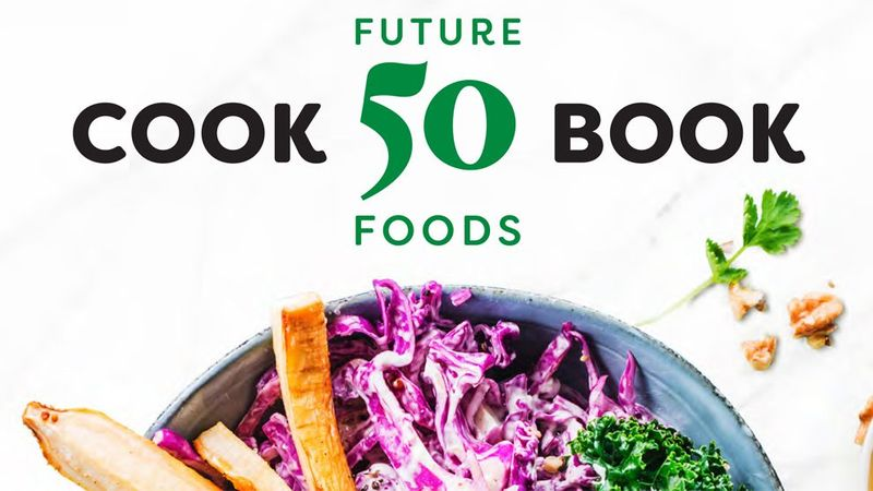 The front cover of the Knorr Future 50 Foods cookbook