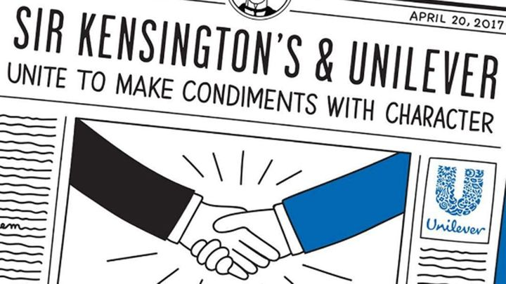 Sir Kensingtons and Unilever unite to make condiments with character