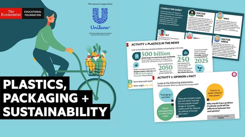 Plastics, packaging + sustainability poster