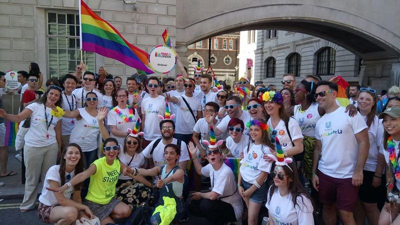 Unilever celebrates Pride in London