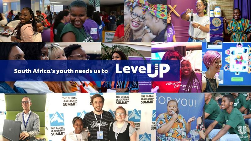 A collage of young South African professionals