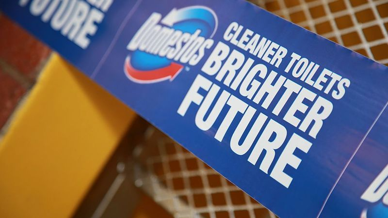 Domestos cleaner toilets brighter future
