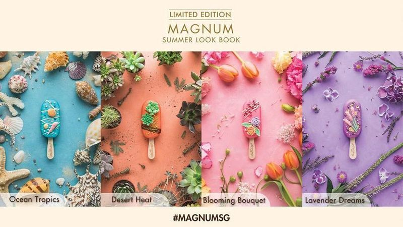 Magnum limited edition ice- creams
